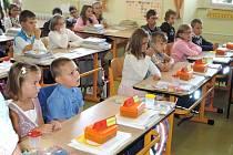 První školní den v ZŠ Milavče.