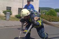 Ze soutěže železných hasičů. Ilustrační foto.