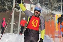 Jiří Královec na snímku z lednového závodu Chodská 30 v Caparticích.