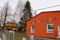 Zahrada Mateřské školy v Koutě na Šumavě.