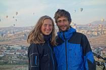 Lucie se Stanislavem vyjeli na kole ze Kdyně do Bombaje. Jeli rok 10 státy a ujeli přes 8 tisíc kilometrů. Foto: Lucie a Stanislav Kokaislovi