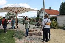 Exkurze na nové zahradě mateřské školy v Klenčí pod Čerchovem.