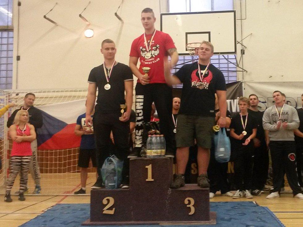 Michael Novotný (Fitness Club Staňkov), nejlepší dorostenec na Mistrovství západních Čech.