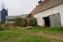 Staré budovy školního statku.