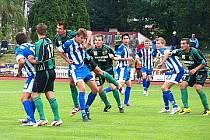 Ilustrační snímek z pohárového utkání Baníku Sokolov s Jisktou Domažlice.