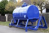 Cisterna s pitnou vodou na Šnajberku.