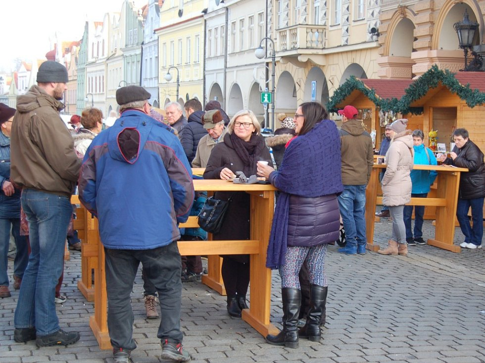 Vánoční trhy v Domažlicích.