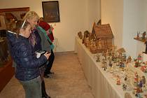 Ze zahájení výstavy Půjdem spolu do Betléma v Chodském hradu.