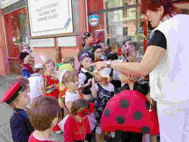 Předškoláci z Benešovy ulice slavili tradičně Dětský den.