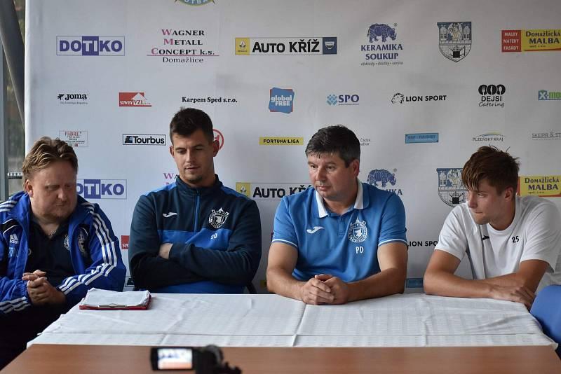 TJ Jiskra Domažlice (bílí) - 1. FK Příbram B 3:0.