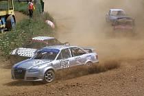 Audi 80 Quattro Petera Engelbrechta bylo ozdobou pátého závodu rallyekrosového seriálu Chodský čakan.