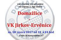 Pozvánka na zápasy domažlických volejbalistů.