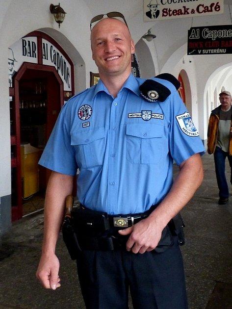 Nový velitel domažlických strážníků Petr Kubal.