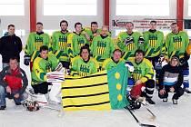 Z osmifinále play - off KSM skupiny D mezi hokejisty HC Díly a Handball Plzeň.