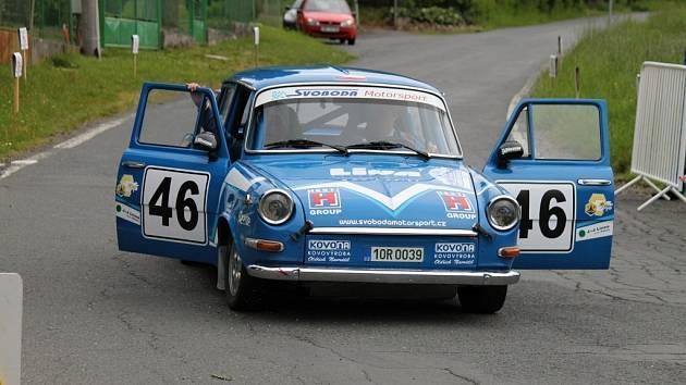 Historic Vltava Rallye 2014. ´Historici´ na Hájovně u Kdyně.