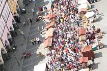 Sobotní odpoledne na CHodských slavnostech v Domažlicích.