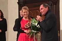 Václav Chalupa s ředitelkou filmového festivalu  Juditou Soukupovou.