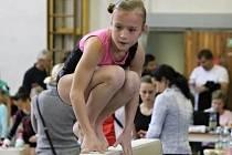 Ze závodu O cenu Chodska ve sportovní gymnastice.