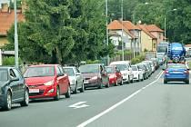 Kolony aut ve Stodě.