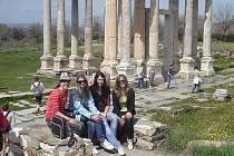 Domažlické studentky v Turecku.