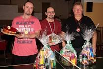 Na snímku jsou tři nejlepší – Marek Schejbal z Kvíčovic, Milan Hulín z Holýšova a Josef Súkeník ze Staňkova.
