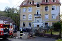 Požár v ubytovně na Valše.
