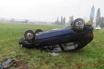 Mladá řidička havarovala u Horšova.
