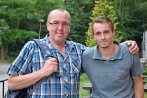 Martin Vísner se svým otcem Václavem.