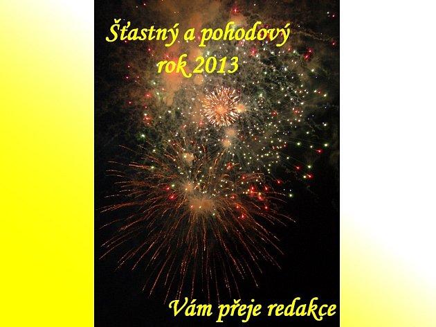 Úspěšný rok 2013 přeje čtenářům redakce Domažlického deníku