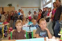 První školní den v Masarykově ZŠ ve Kdyni.