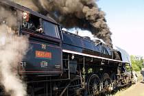Jízda parní lokomotivou.