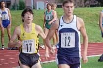 SPRINT DO CÍLE. Domažlický rodák hájící barvy AK Kroměříž Martin Frei (s číslem 17) na MČR získal bronz na 10 km dlouhé trati.