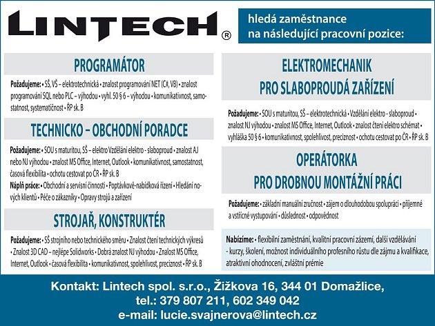 Lintech/inzerce