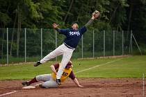 Z utkání baseballistů Wolfs Domažlice na turnaji v rakouském Attnangu.