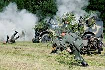 Střet US army a německého wehrmachtu.