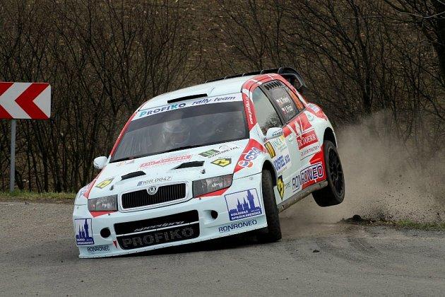 Úvodním podnikem sedmidílného seriálu True Cam MČR v rally 2017 byla 36. Janča Valašská rally. Na snímku Karel Trněný z Profiko rally teamu Meclov.