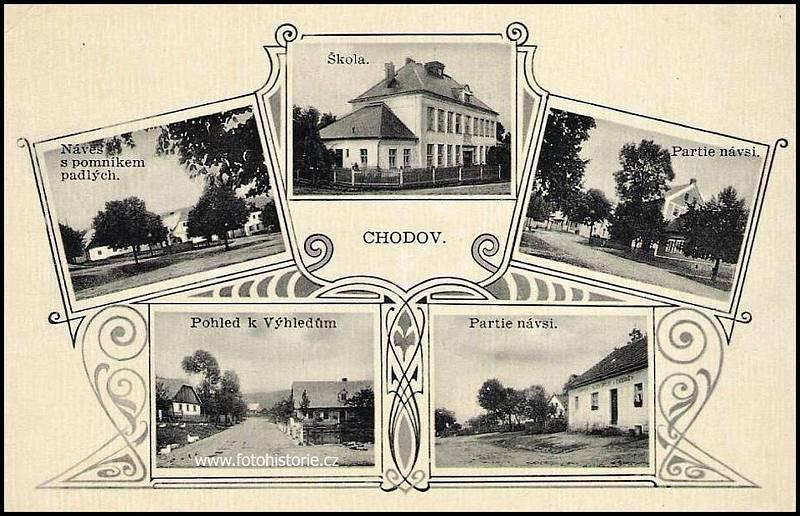 Pohlednice Chodova z roku 1930.