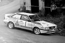 Legenda rallysportu, kdyňský rodák Leo Pavlík. S audi.
