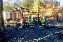 Takto zaznamenali po zásahu požářiště hasiči.