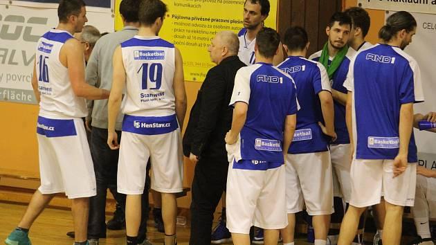 Basketbalisté A-týmu mužů Jiskry Domažlice.