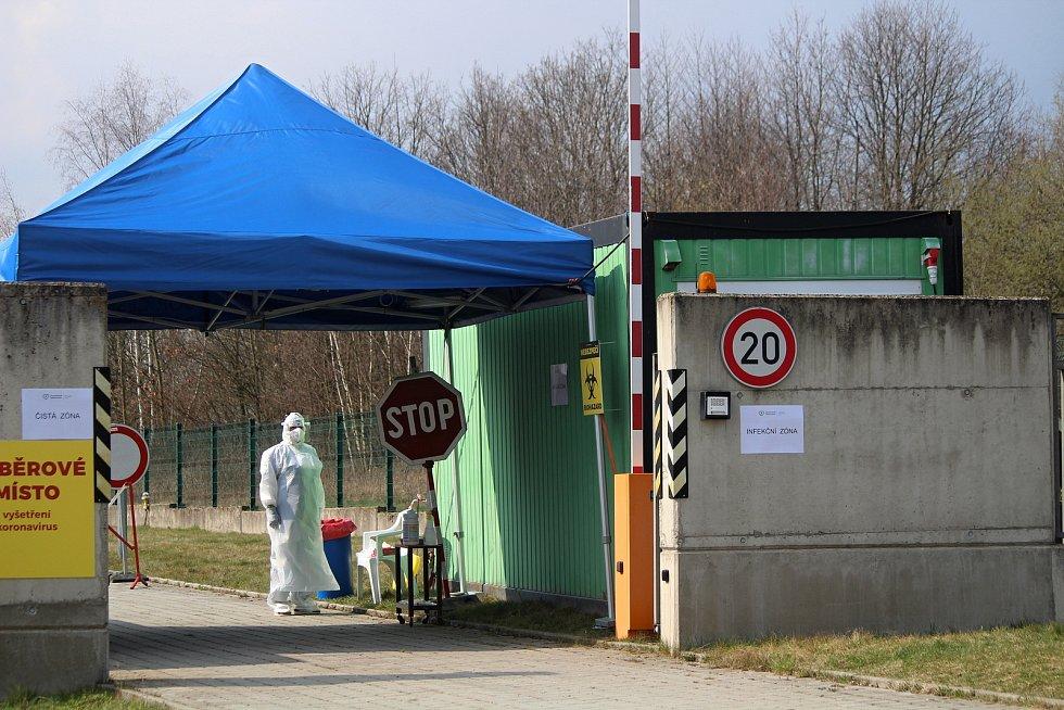 Otevření odběrného místa v Domažlicích.