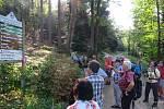 Turistický výšlap na Čerchov. Skupinu vedl Reitmeier.