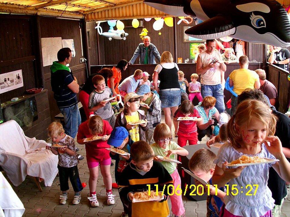 Dětský den na koupališti v Němčicích.