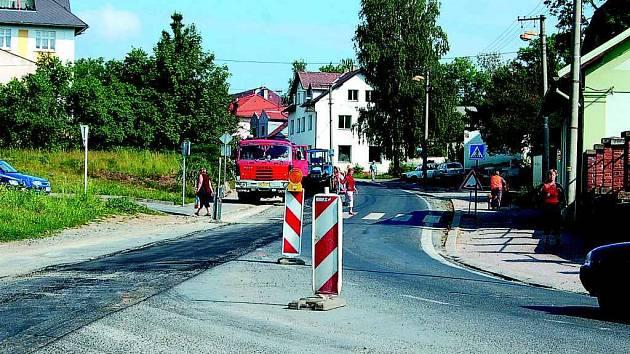 První kruháč v H.Týně vznikne na místě křižovatky ulic Dr. E. Beneše, Masarykovy a Vrchlického.