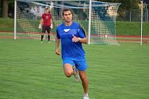 Martin Knakal na Střelnici na tréninku Jiskry Domažlice.