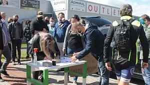 Protest pendlerů na Folmavě