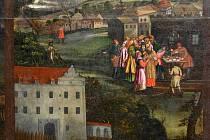 TAK VYPADAL ZÁMEK V HOSTOUNI. Někdejší podobu zámku zachytil autor plátna o tzv. Hostouňském zázraku.