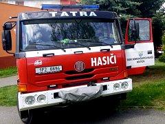 Zásahové vozidlo SDH Holýšov.