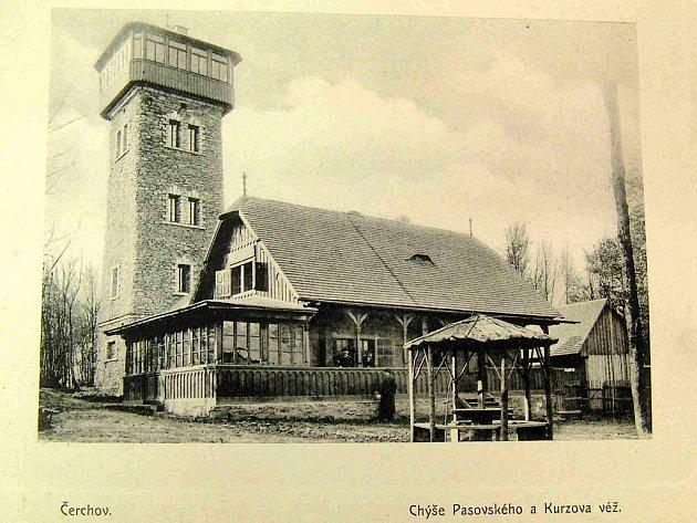Kurzova věž - historické foto.