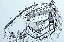 Ve věži Rýzmberka návštěvníci vidí na obrázku, jak hrad zřejmě vypadal v minulosti.